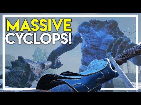 WE *BARELY* TOOK DOWN A MASSIVE CYCLOPS in Ark Atlas Gameplay #28