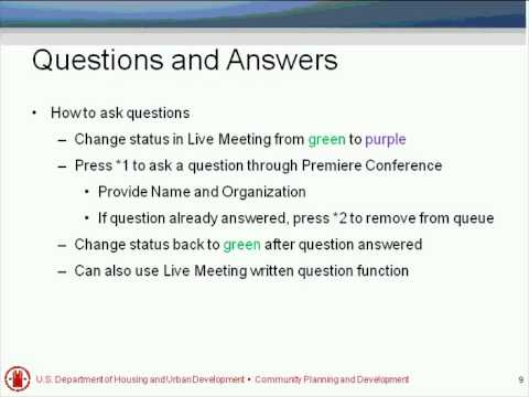 Open Forum Q&A with HUD Staff Webinar - 6/5/12