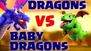 [COC] RUSH | DRAGONS VS BABY DRAGONS MEILLEURES TROUPES ? | CLASH OF CLANS FRANCAIS