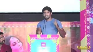 Arya's hilarious speech at Inji Iduppazhagi audio launch