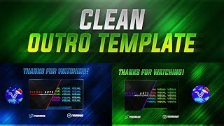 FREE Clean Outro/End Screen Photoshop Template!