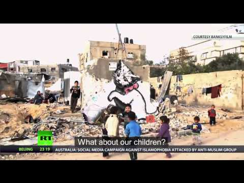 Banksy in Gaza   Haunting images among ruins of war