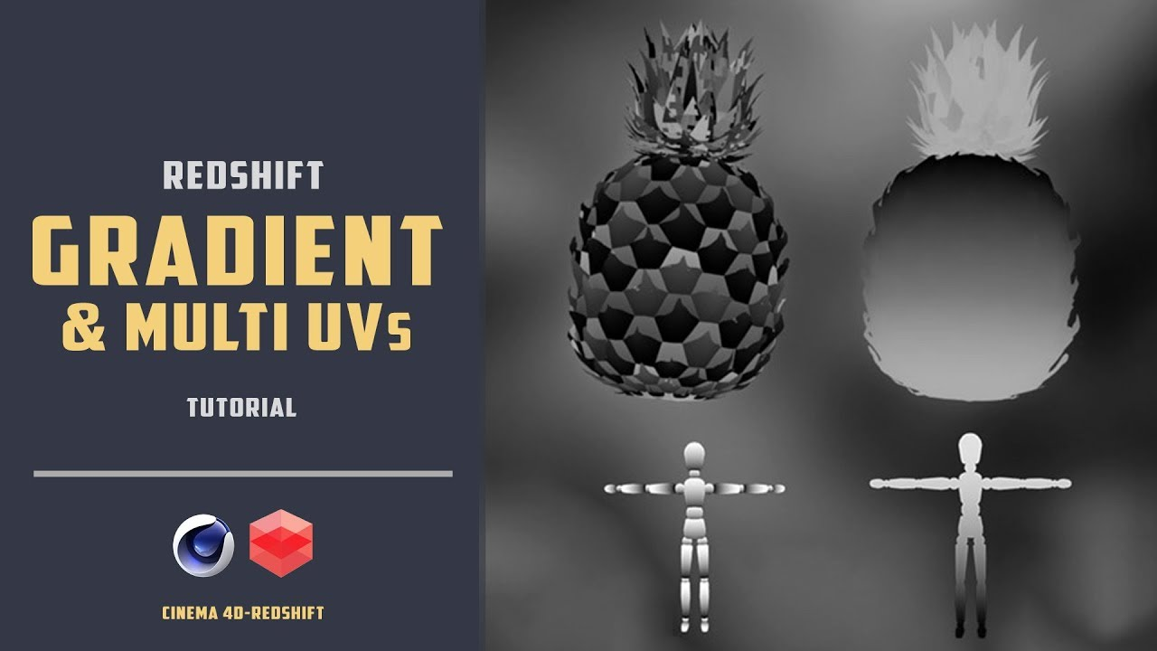 How to apply gradient on a object with redshift [CINEMA 4D TUTORIAL]