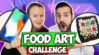 MEGA FOOD ART CHALLENGE mit iPhone aus Schokolade und Skittles - Kaan Vs. Kathi