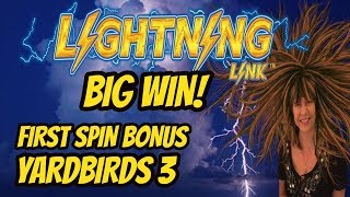 YARDBIRDS 3 FIRST SPIN BONUS! BIG WIN SAHARA GOLD