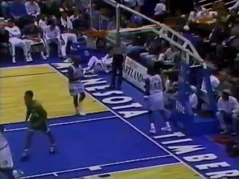 Dee Brown Sinks Three Consecutive Threes at Minny (1996)