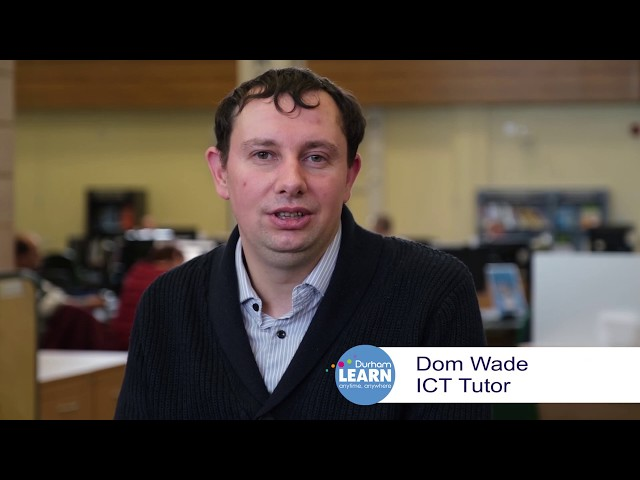 Dominic Wade DurhamLearn ICT Lecturer & Learning Technologist