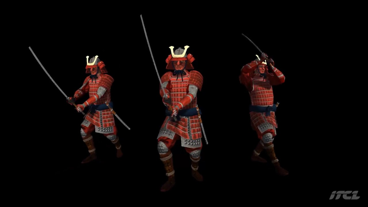 asset store samurai character katana itcl unity 3d youtube