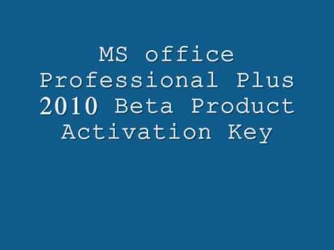 Ms office professional plus 2010 beta product activation - Office professional plus activation ...