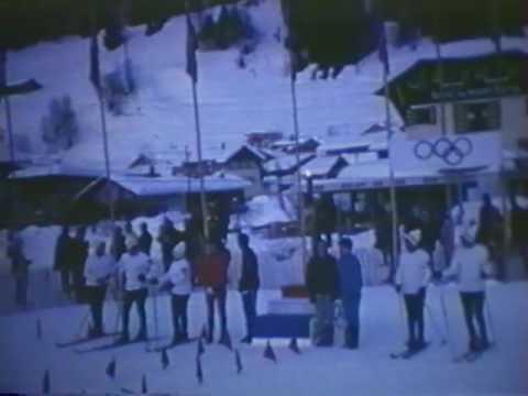 1968 Passage de la flamme Olympique aux Gets
