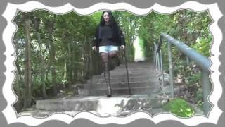 Repeat youtube video Amputee Natalie climbing stairs with a high hee