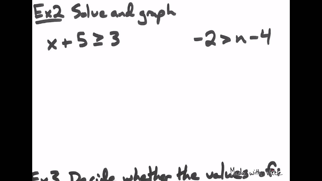 Solving One-Step Linear Inequalities Using Addition/Subtraction ...