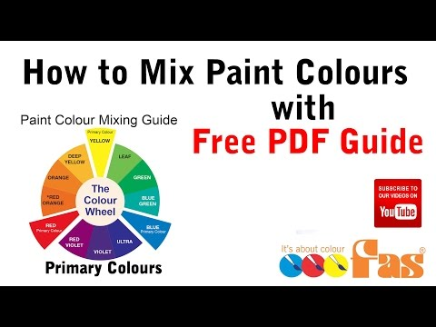 Free School Paint Colour Mixing Guide For Kids Fas