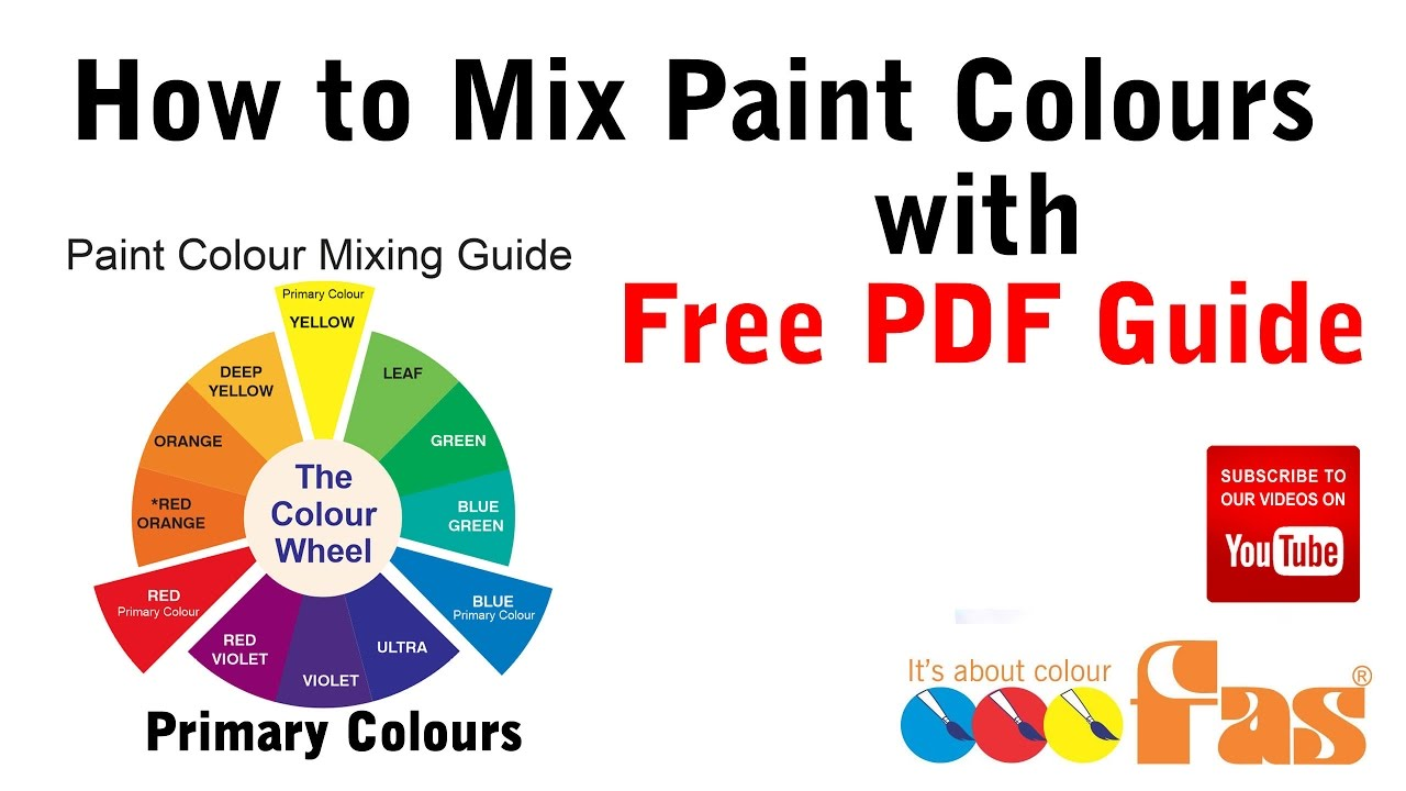 How to mix paint colours tutorial with free download pdf chart diy for beginners also rh youtube