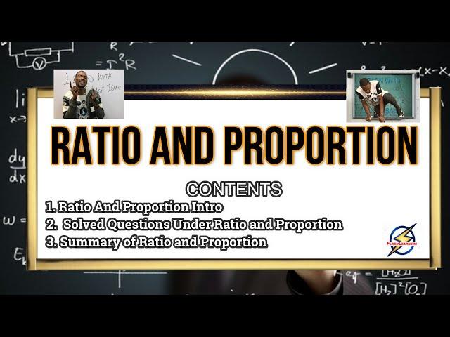 Ratio And Proportion For Schools, Jamb & Waec (Pt. 1)