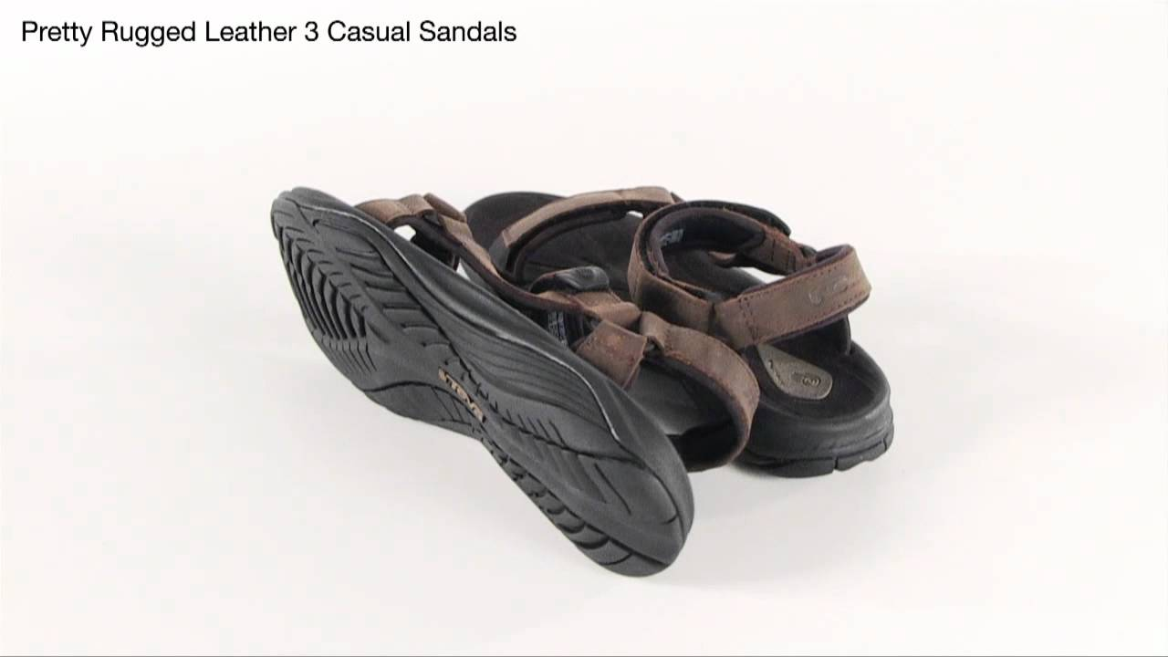 13da88c406bc19 Teva Pretty Rugged Leather 3 Casual Sandals - YouTube