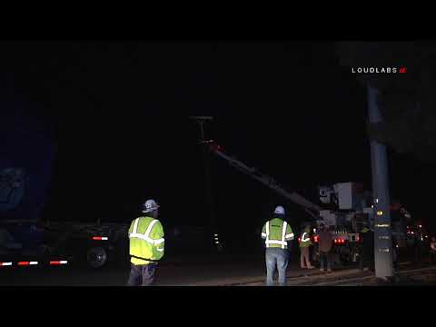 Semi Truck Takes Out Power Lines / Jurupa Valley  1.3.19