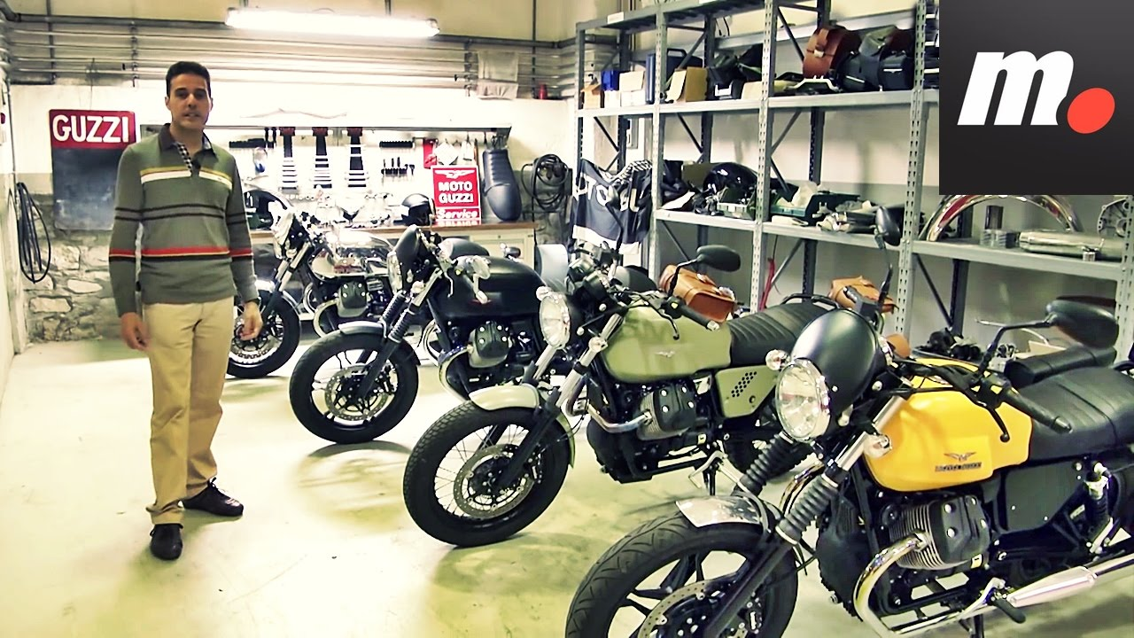 garage moto guzzi reportaje youtube