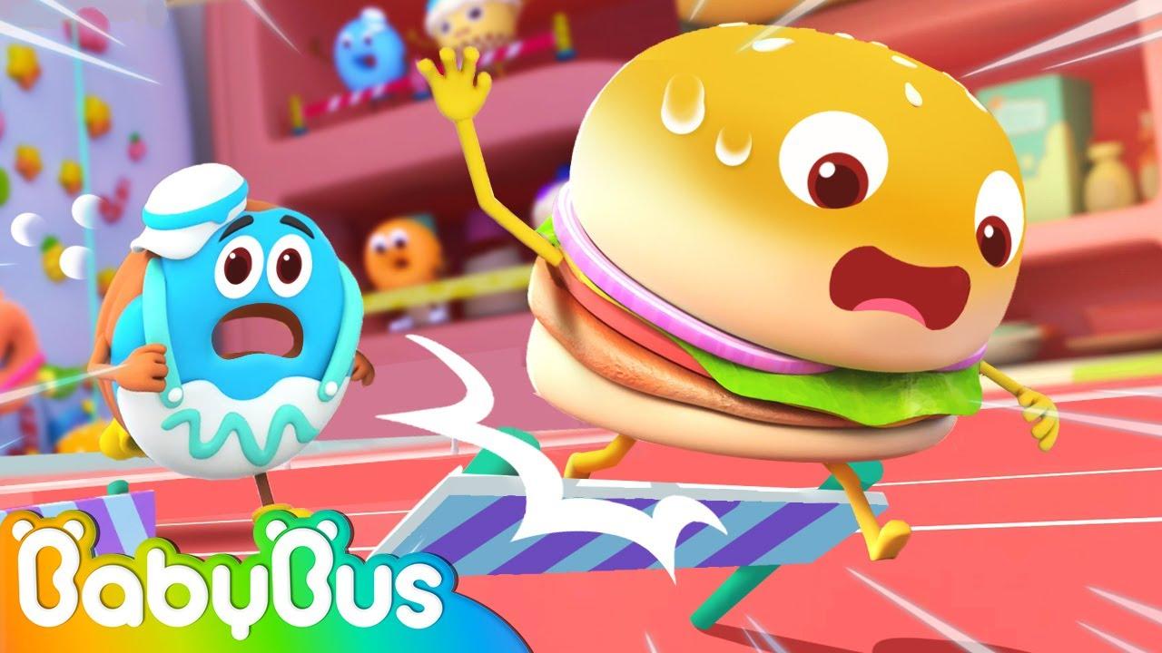 Yummy Food Sports Day 🍔🍟🍩 | Kids Cartoon | Storytime | Nursery Rhymes | BabyBus