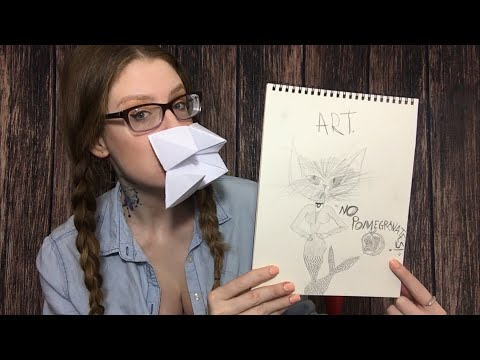 ASMR LYING ART TEACHER RP | Teaching Pencil Sketching & Origami | NO POMEGRANATES
