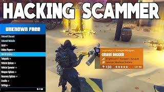 HACKING SCAMMER SCAMMED HIMSELF (Scammer Gets Scammed) Fortnite Save The World
