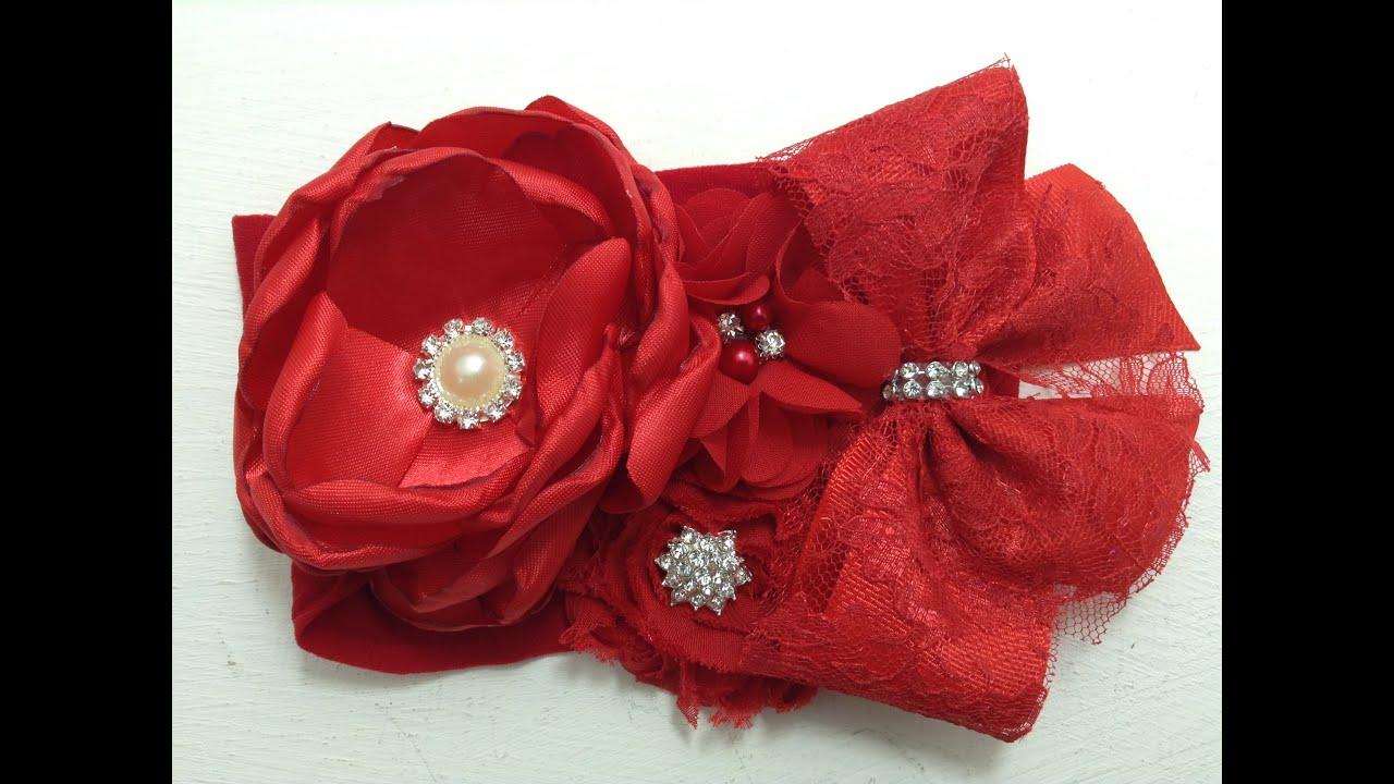 Tiara de flores rojas VIDEO No. 358