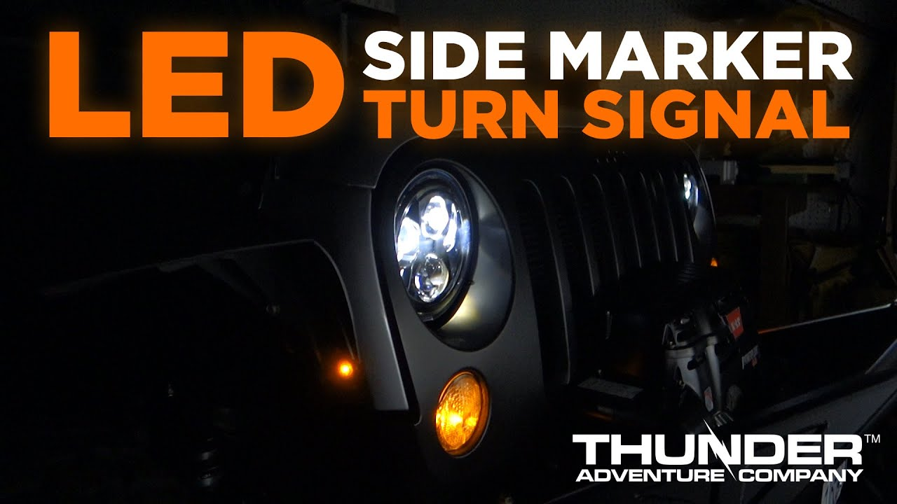 hight resolution of jeep jk led side marker turn signal wiring youtube jeep wrangler jk turn signal wiring diagram jeep turn signal wiring