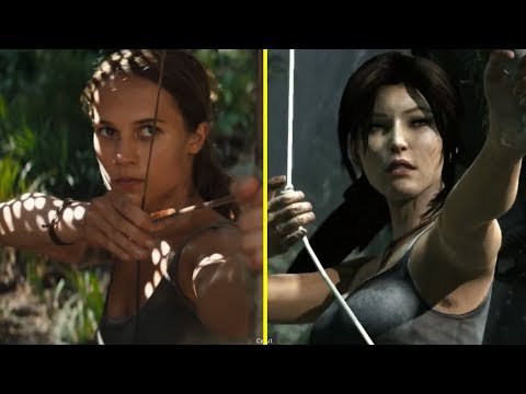Tomb Raider Game vs Movie Scene Comparison
