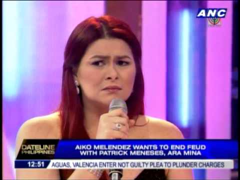 Aiko wants to end feud with Meneses, Ara