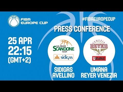 Press Conference - Sidigas Scandone Avellino v Umana Reyer Venezia