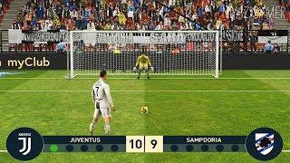 JUVENTUS VS SAMPDORIA | Penalty Shootout | PES 2019 Gameplay PC