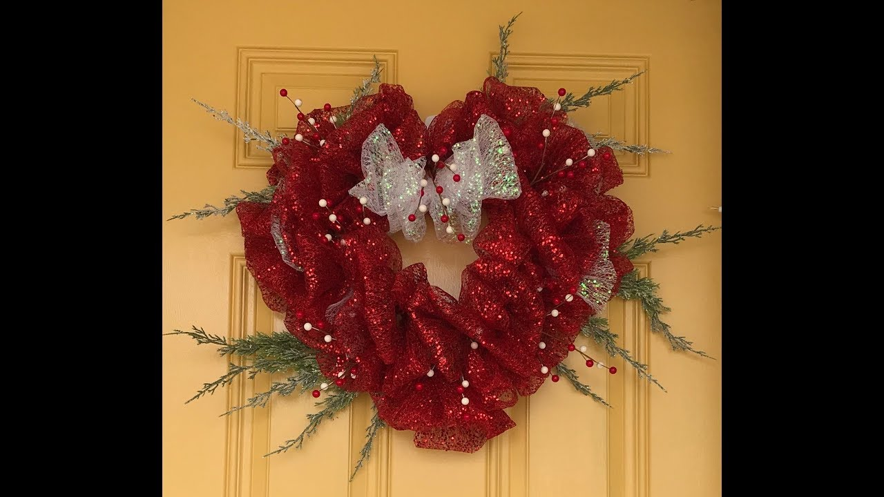 Valentine Deco Mesh Wreath Tutorial