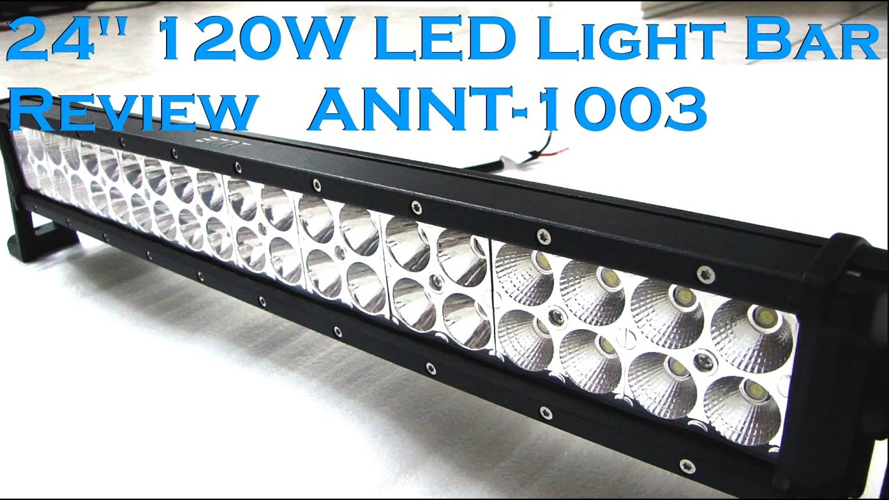 Annt 24 120w led work light bar full review youtube mozeypictures Choice Image