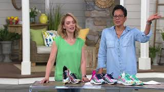 Skechers Tropical Print Sneaker Wedges