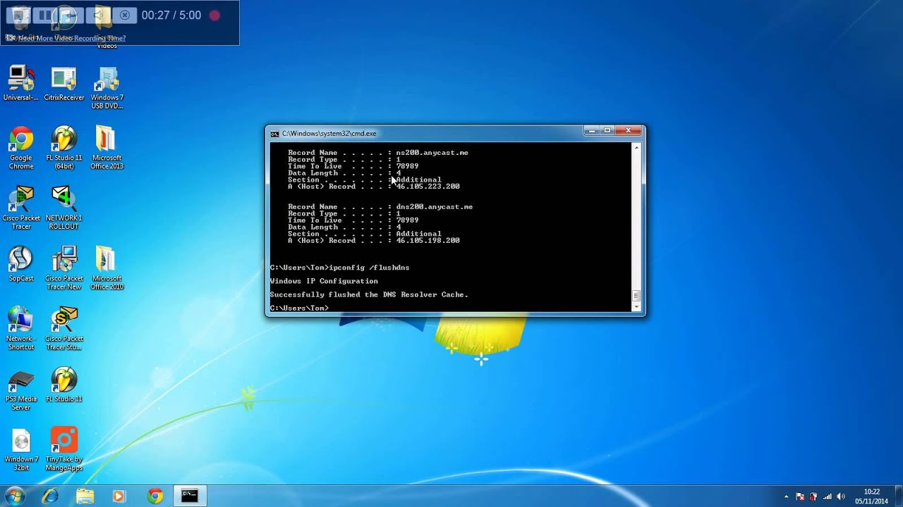 How to clear your browsing/ DNS history via CMD/ command prompt