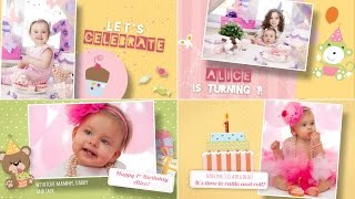 Happy Birthday Template Free for After Effects  - Girl version
