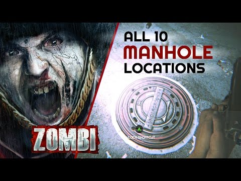 Zombi - All 10 Manhole Locations (How to find all shortcuts)