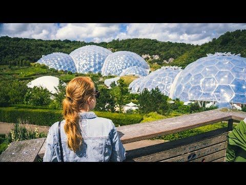 HUGE BUBBLE BIOMES + British Pub Grub! (Eden Project, Cornwall England)