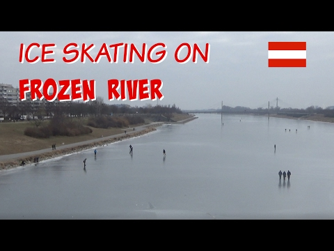 RIVER DANUBE FREEZES IN VIENNA AUSTRIA 🇦🇹