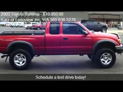 2003 Toyota Tacoma Ext Cab 4x4 For Sale In Longview Wa