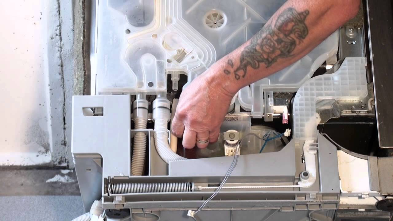 How To Replace A Dishwasher Drain Hose Bosch Youtube