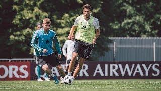 Das erste Training in Moskau