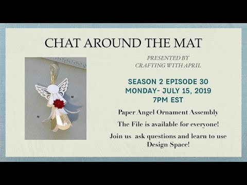 Paper Angel Ornament  & Design Space Updates
