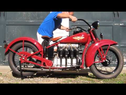 1931 Henderson KJ Motorcycle Start Up