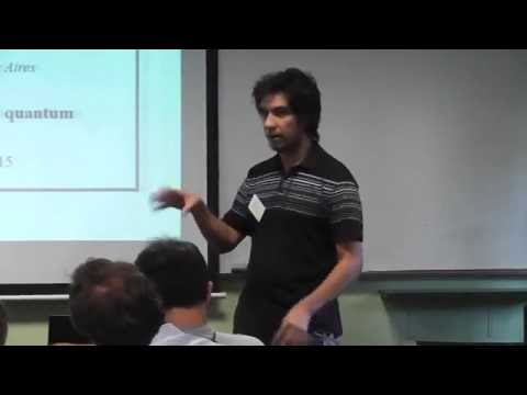 Cristian López in Buenos Aires 2015. International Workshop: What is Quantum Information?