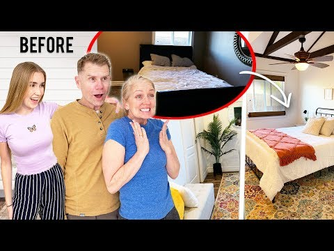 Surprising My Parents With A Room Makeover !! they had no idea !! BIG REACTION