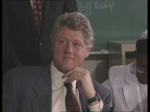 President Clinton in New Brunswick, NJ (1993)