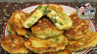 Мировая закуска. Пышные оладушки, или пирожки с луком и яйцом. Вкусно и быстро.