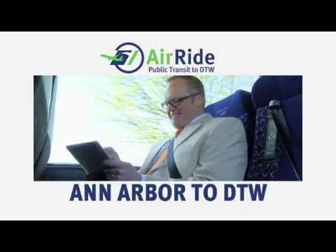Traveling Between Ann Arbor And DTW? Take AirRide For Just... $12!!