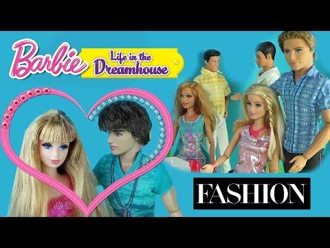 Мультфильм с куклами Барби. Подарок от Кена Дом мечты. Видео для детей 37